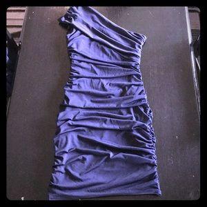 Sweet storm, navy blue color dress.